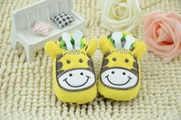 on promotion cute style baby first walk shoes in yellow color free shipping