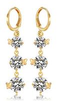 Bohemia long gilt butterfly earrings female hypoallergenic earrings birthday gift