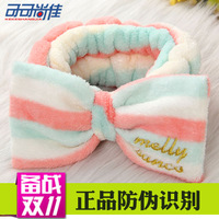 free shipping Tenfolds hair bands cosmetic beam towel mask toe cap covering towel wigs big bow