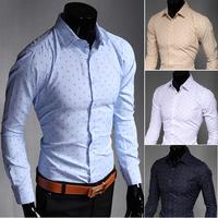 C226 New Mens Shirts Casual Slim Fit Stylish Mens Dress Shirts 4 Colors 5 US size
