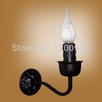 Free Shipping Iron Candle Holder Wall Lamp Vintage Country Lighting Mirror Front Light for Aisle/Living Room/Bedroom WLL-55