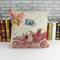 Rustic wagon pillow cushion 2014 home or car with a 45cm * 45cm pillowcase stylish and comfortable Sofa cushion X120