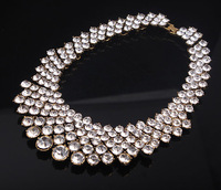 2014 big brand statement women necklace full crystal bling shine collar for party dress retro choker necklace unique design x458