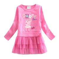 peppa pig baby girl dress vestidos de menina girls long sleeve dress nova brand kids clothes children girl party tutu dress