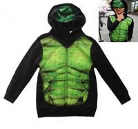 2014 New 4 to 7 Years Old Boy Girl Fashion Cartoon Hulk Suits Blazers Jackets Outerwear Coat Baby Kid Children Sweatshirts UM01