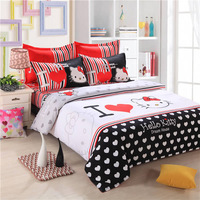 Hello kitty cartoon bed set bedding sets bed linen for kids twin queen size New bedclothes duvet cover sheet
