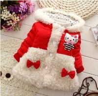 2014 kid coat for winter baby girl parka Girl Hoodie clothing winter coat