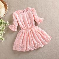 2014 Girls summer sweet  lace dress , girls lace dress , dress for kids , 4pcs/lot   WMX13