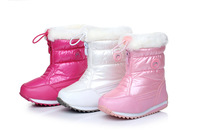 free shipping children boots 2104 children winter shoes boys & girls boots waterproof slip-resistant fashion kids snow boots