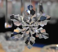2014 Large Crystal Snowflake Annual Christmas Ornament 80MM 1pcs