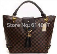 Bolsa 2014New women leather shoulder handbag crossbody bag designer brand tote L quality V metal vintage tassel bag clutch purse