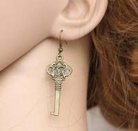 Free shipping,Literary fresh style key-type earrings