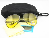 Polarized Aviator / Pilot  Style Sunglasses , big lens eyewear , stainless steel frame , free zipper case and test card