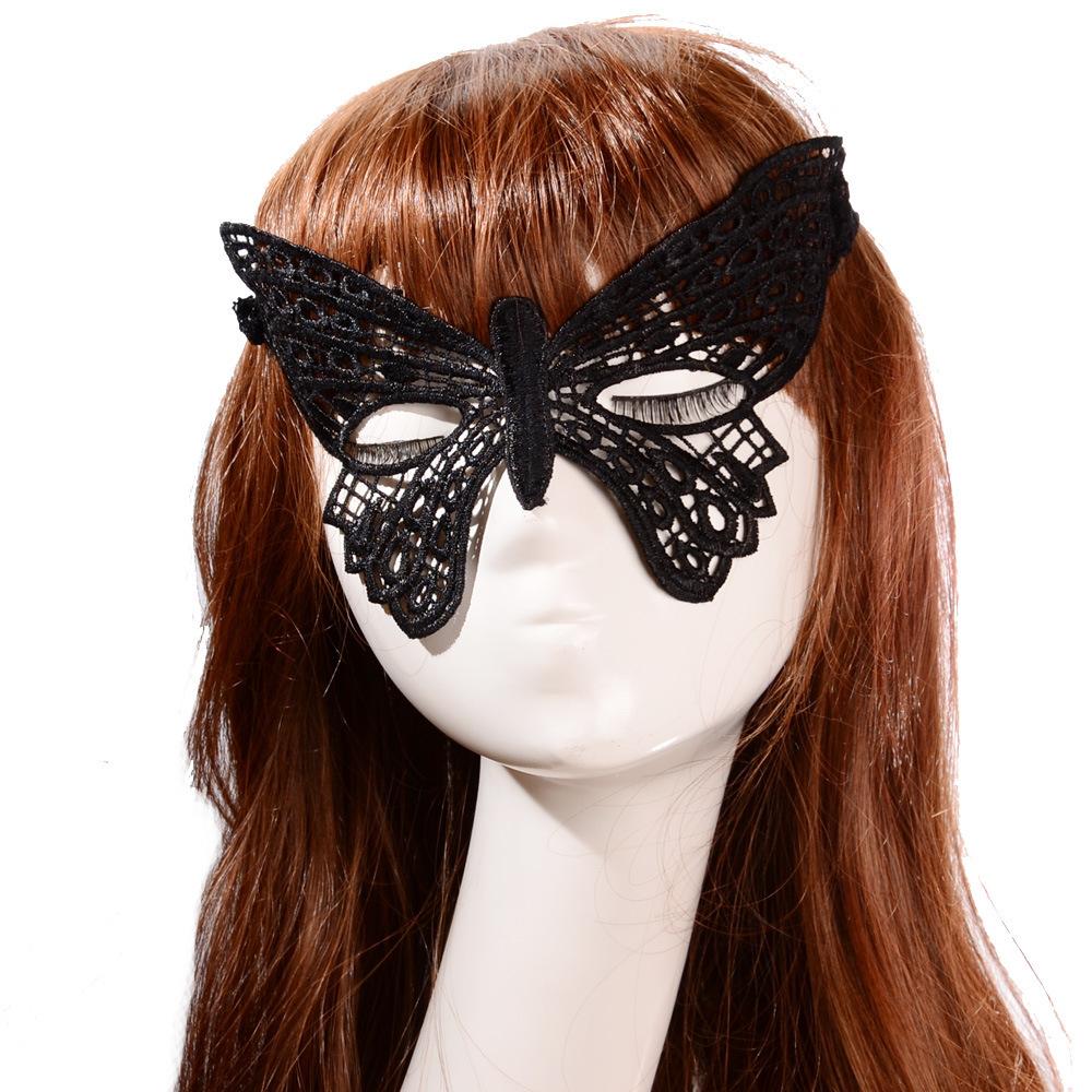 Sexy Lace Mask Veil Halloween Venetian Black Lace Eye Mask Luxury Princess Party Masks(China (Mainland))