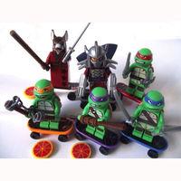 New Cute Lot/Set Of 6 PCS Ninja Turtles Minifigures Mini Figures Toys Blocks