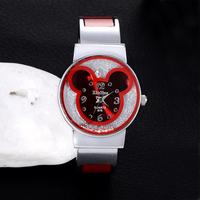 New Fashion Mickey Bracelet Watches For Women dress Analog Girl's Cute Rhinestone wristwatches 2014 Ladies Casual Quartz watch