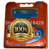 Free Shipping High Quality  hot Grade AAA 16P/L Men's Razor Blades F5 5-Blade shaving razors series blades  Retail packaging