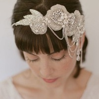 2014 NEWEST vintage Wedding hair accessories handmade Bride pearl crystal headbands free shipping XH156