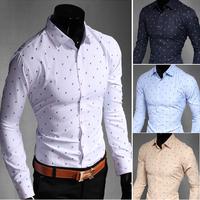 C227 New Mens Shirts Casual Slim Fit Stylish Mens Dress Shirts 4 Colors 5 US size