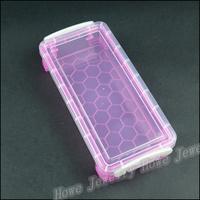 Wholesale 5pcs Hot Rectangle shaped Portable  Transparent Plastic Box  Jewelry Storage Box  Makeup  Jewelry Box HZ030