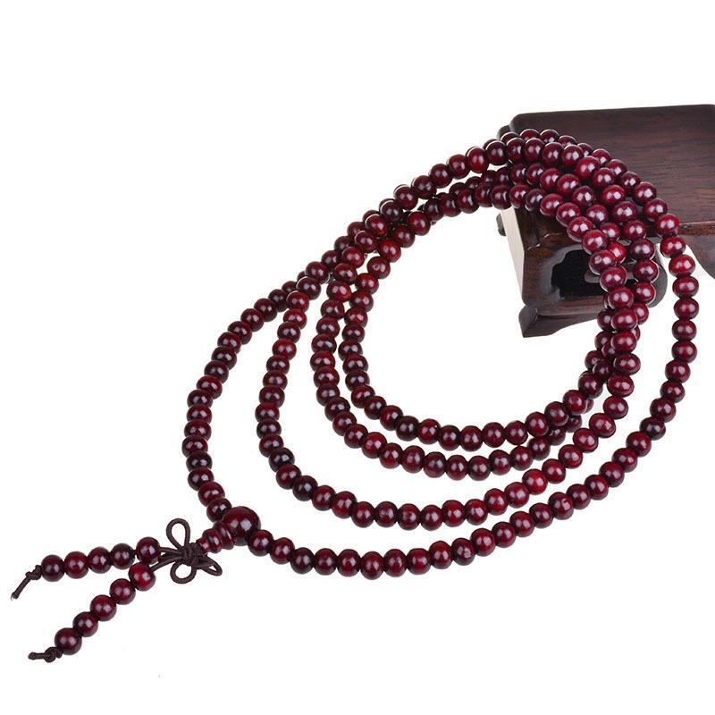 6mm 108 natural red sandalwood bead prayer japa rosary mala bracelet Tibetan Buddhist meditation Wooden Rosary Beaded Bracelet(China (Mainland))