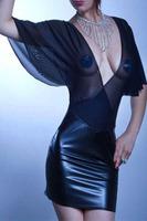 Women Leather Dress 2014 Voile Top Bandage Dress Women Summer Dress Vestidos De Festa Women Work Wear