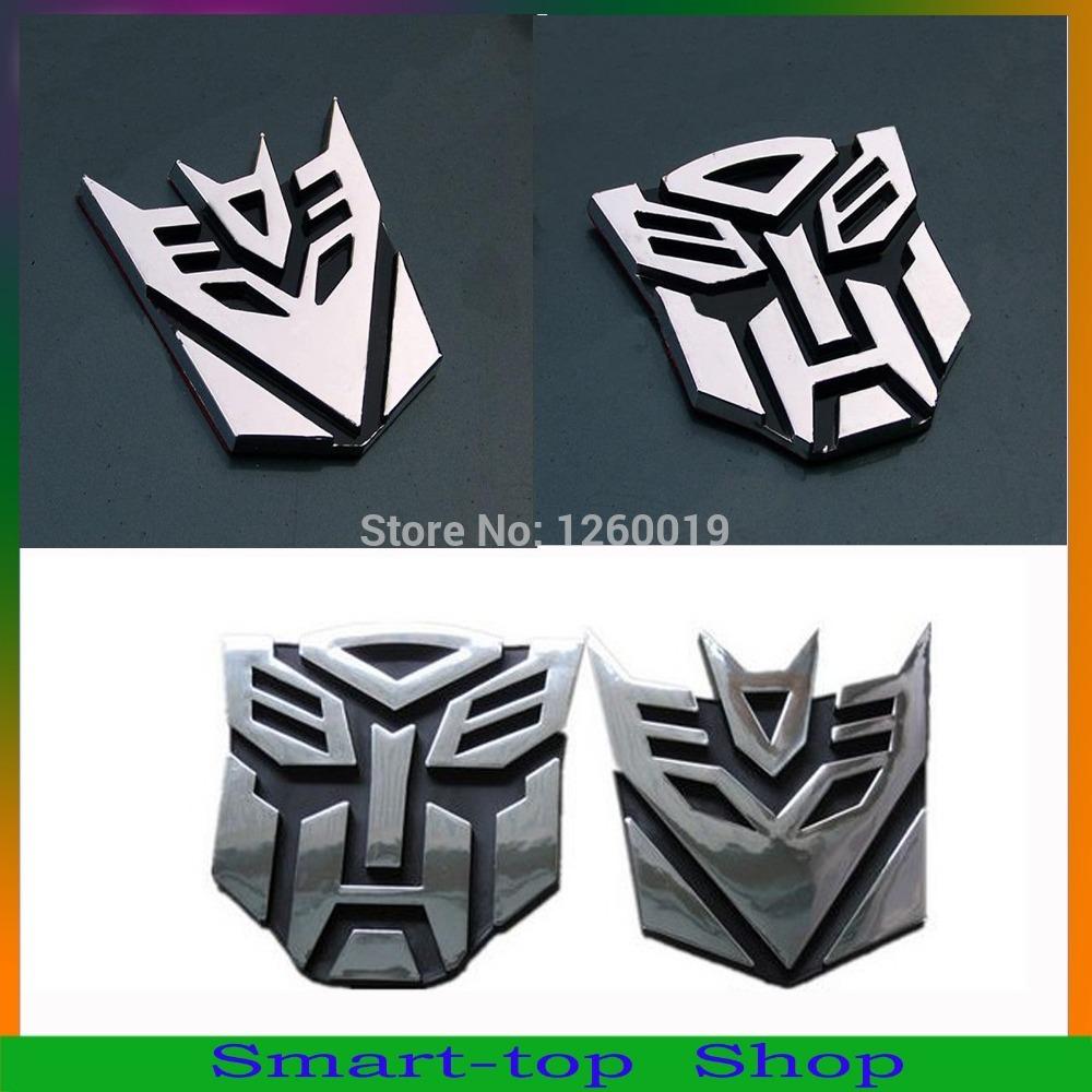 2014 Hot Sale!! Car Metal Sticker Transformation Autobot Decepticon Emblem Badge Decal Truck Auto styling decor of New 3D Logo(China (Mainland))