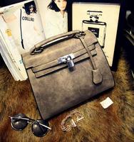Korean fashion handbags platinum matte handbag shoulder bag diagonal package in Europe and America women message bag 6