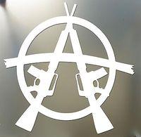 """Anarchy Sticker M16 3"""" AR15 SOA sons wall AR-15 M-16 GUN car sticker"""