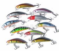 10pcs/lot Crankbait 7CM-8.5G- Fishing Tackle Artificial Lures Crank Bait Fishing Lure Fish Pesca  wobbler plastic hard lure