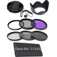 10pcs Filter Set + Lens Hood + Cap + 58mm N2 N4 N8 Filter + UV CPL FLD Filter forNikon Canon Sigma Tamron Sony Minolta Olympus