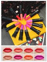 Hot Selling Lip Gloss Pen Waterproof Lipgloss Makeup Lip Stick Cosmetic Lipstick 12 Colors Drop Free shipping Long Lasting SV02