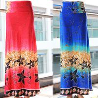 2014 Autumn new fashion sheer women high waist long skirt women's clothing plus size  patterns skirts saias femininas