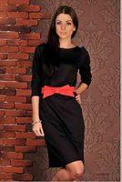 2014 autumn new style women's dress women's fashion round neck sleeve solid color chiffon dress casual vestidos