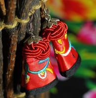 Free shipping,Original Embroidery handmade earrings