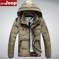 Brand new mens short men's down jacket padded genuine business XXXL jacket