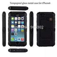 Redpepper Waterproof Shockproof  hexagonal Aluminum Gorilla Glass Gorilla Glass Luxury Metal Cover Case For iphone6 4.7