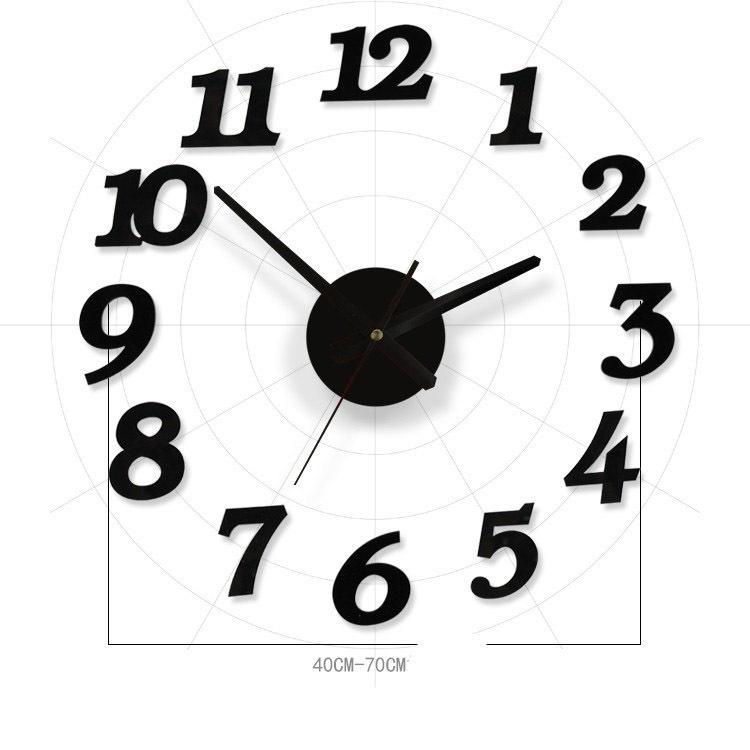 Achetez en gros horloge de miroir noir en ligne des for Horloge de cuisine moderne