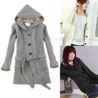 Free shipping Women Hoodie Cardigan Sweater Hooded Sweatshirt Tops Jacket Coat Winter Outwear