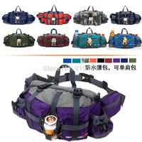 Outdoor equipment multifunction pockets travel mountaineering men riding a slingshot shoulder bag