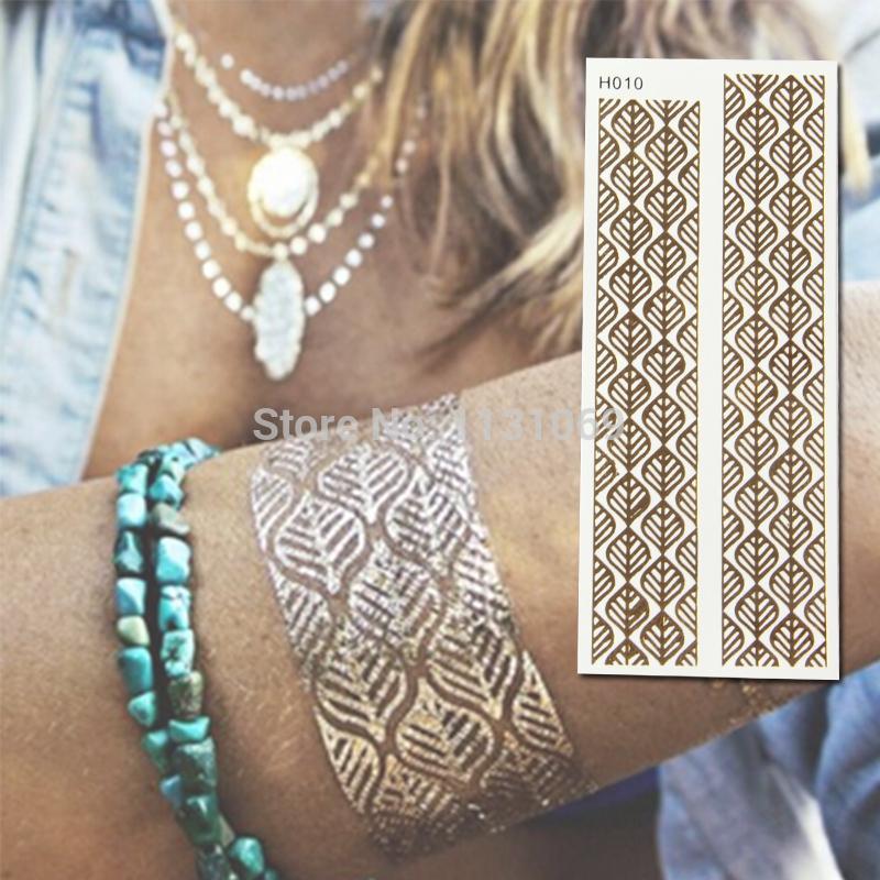 Временная татуировка Temporary Tattoo DIY Tatoos Bling Tatouage blue1