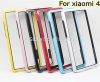 New Arrival 2pcs Anti-Skid Dual-color Frame Bumper Soft TPU gel silicon Case Cover for Xiaomi 4 mi4 mi M 4 M4 xiaomi4