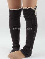 wholesale 10pcs/lot women Boot cuffs knitting Leg warmers button down Boot socks winter accessories free shipping