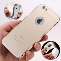 New arrived Aluminum Ultra-thin Metal Case Back Cover Skin for Apple iPhone 6 4.7'' free shipping