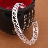 925 sterling silver bangle bracelet, 925 silver fashion jewelry Bangle /aqdajhka aycajpja B194