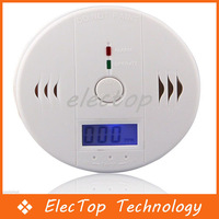 Free Shipping Home Security Carbon Monoxide Alarm System Poisoning Smoke Gas Sensor Warning Alarms Detector Tester LED