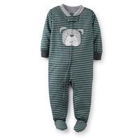 2014 Autumn, Zip-Up Sleep & Play Baby One Piece Polyester Romper   Brand Baby Boy Pajamas