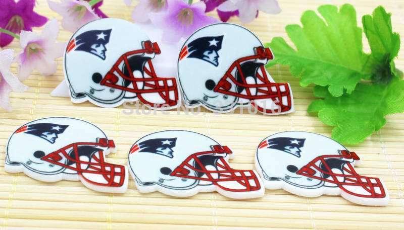 New!! 30pcs Rugby Helmet Resin Flatbacks For Hair Phone Home Decoration DIY Making Craft Embellishments(China (Mainland))