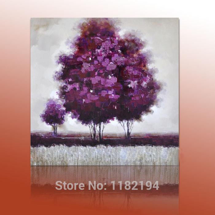 Oil Tree Paintings Purple Tree Landscape Oil