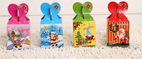 4pcs/lots 2014 new Christmas Eve the apple package boxes Ornament folding for Chrismas Eve gift bags -free shipping